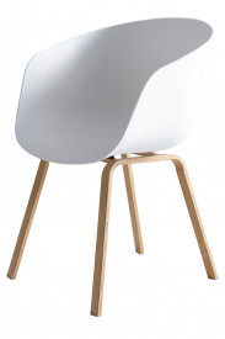 Set 2 scaune Nordin albe