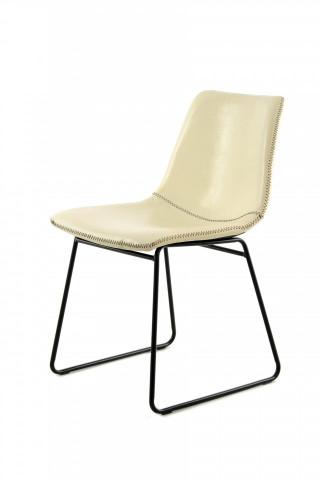 Set 2 scaune piele artificiala Caila bej