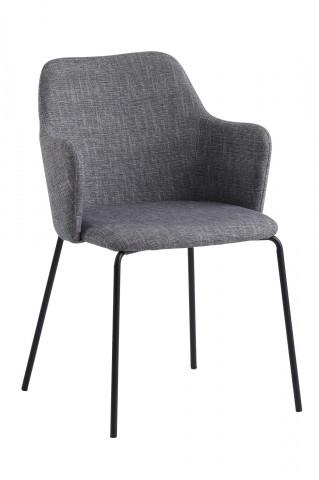 Set 2 scaune tapitate cu cotiere gri