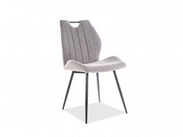 Set 4 scaune din catifea Arco gri / negru
