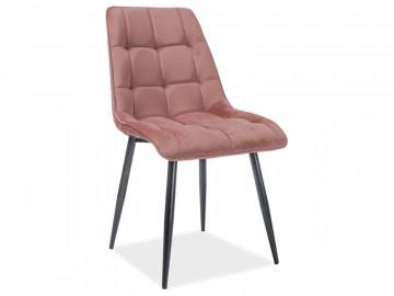 Set 4 scaune din catifea Chic roz mat
