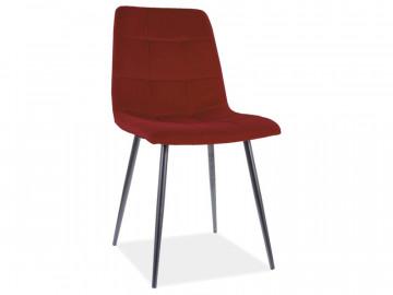 Set 4 scaune din catifea Mila rosu mat