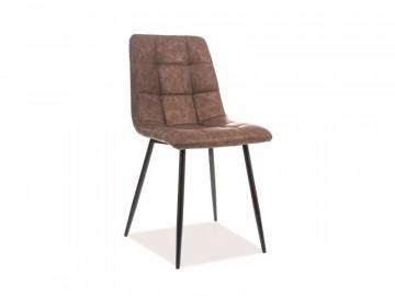 Set 4 scaune din piele ecologica maro