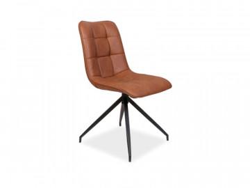 Set 4 scaune din piele ecologica Olaf maro