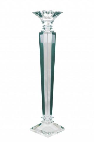 Suport lumanare din sticla de cristal Mova III, transparent