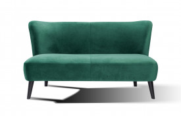 Canapea catifea, 2 locuri, verde
