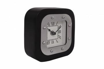 Ceas de masă Moments 5x14x14 cm argintiu / negru