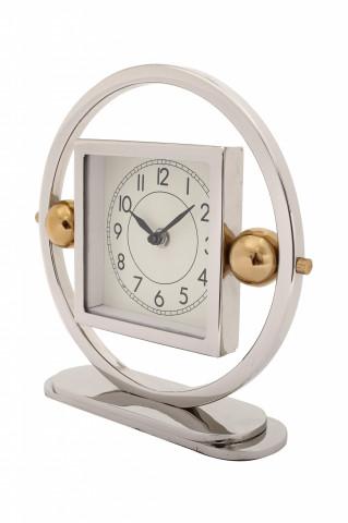 Ceas de masă Moments 6x25x24 cm argintiu