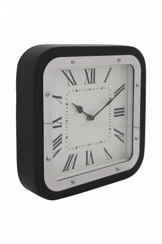 Ceas de perete Moments 6x28x28 cm negru / argintiu