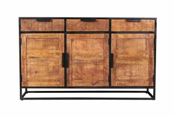 Comoda din lemn de mango Sidney maro 90 cm