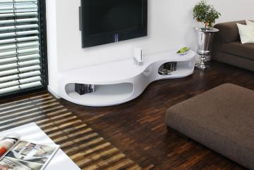 Comoda TV din MDF 200x50x30 cm alb