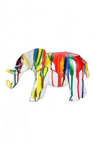 Decoratiune Elephant, multicolor