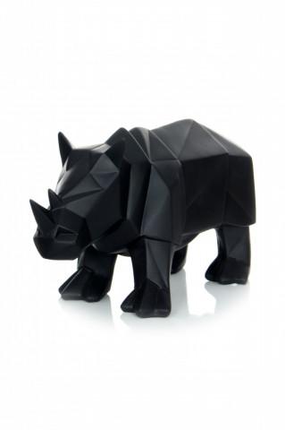 Decoratiune Rhino, negru