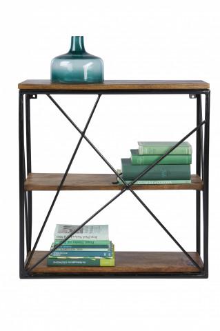 Etajera din lemn de mango si metal Tom Tailor 60 x 20 x 62 cm