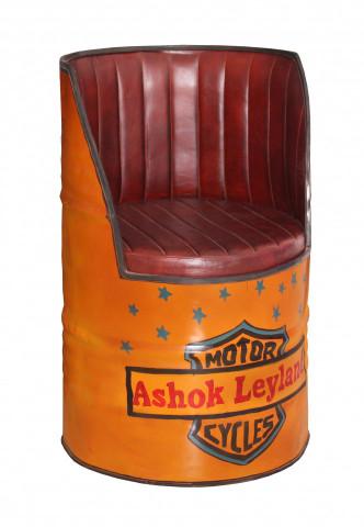 Fotoliu butoi din piele sintetică This & That portocaliu