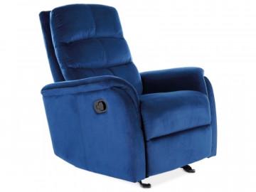 Fotoliu extensibil din catifea Jowisz albastru