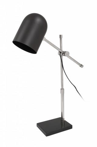 Lampa de birou din otel/alama/fier Celeste, negru/argintiu, un bec
