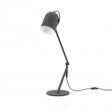 Lampa de birou Sleek neagra, un bec