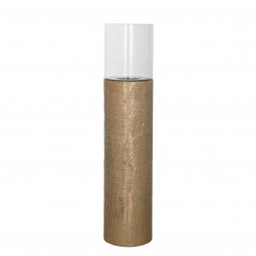 Lampa decorativa din aluminiu/sticla Barlow aramie, un bec