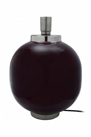 Lampa decorativa din fier, mov/argintiu, un bec 28x28x38,5 cm