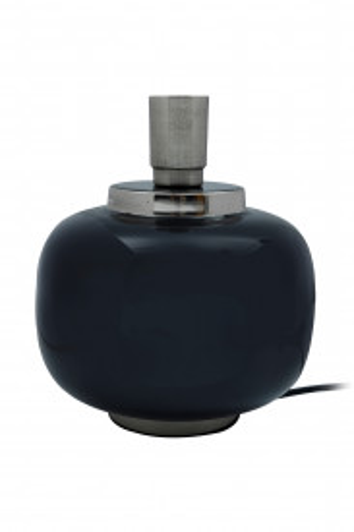 Lampa decorativa din fier, negru/argintiu, un bec 20x20x25 cm