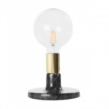 Lampa decorativa din marmura/fier Mrs. Glow neagra, un bec