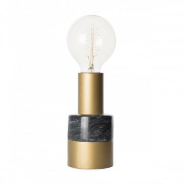 Lampa decorativa din murmura/fier Lalande neagra, un bec