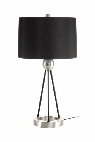 Lampa decorativa din PVC/fier Architecta argintie/neagra, un bec