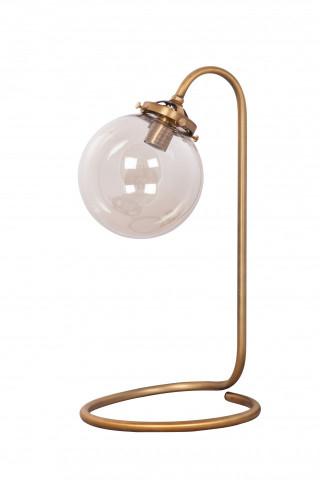 Lampa decorativa din sticla/fier Globa alama, un bec