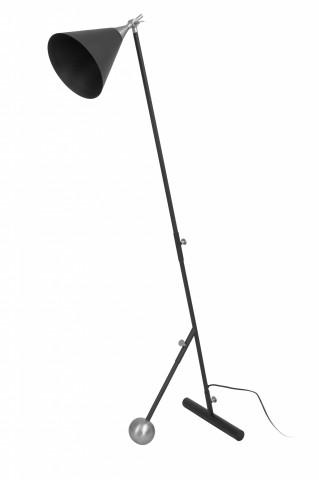 Lampadar din otel/alama/fier Celeste, negru/argintiu, un bec 59x32x144 cm