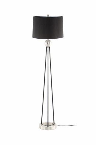 Lampadar din PVC/fier Architecta argintiu / negru, un bec