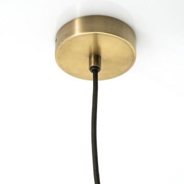 Lustra din fier/sticla Maverick pendant lamp bronze, un bec