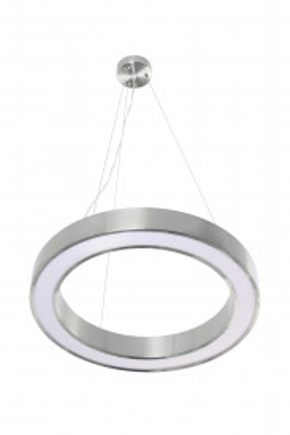 Lustra din PVC/fier Saturn argintie, LED