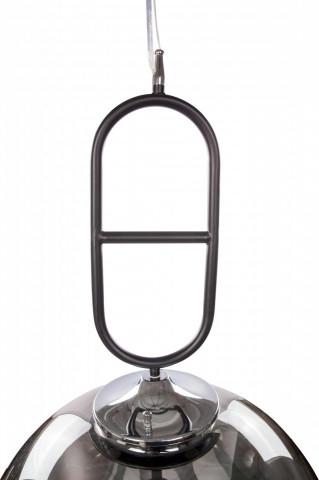 Lustra din sticla/metal Calai II gri /neagra, un bec