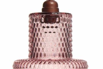 Lustra din sticla Mona roz, un bec