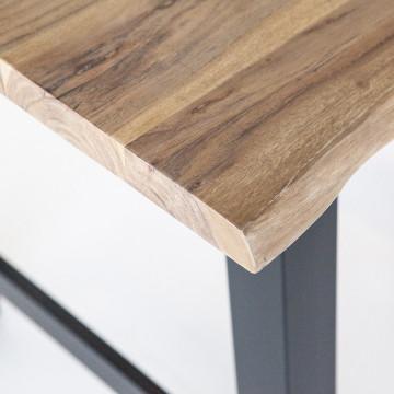 Masa de bar dreptunghiulara din lemn de salcam Acacia 150x80x90 cm maro