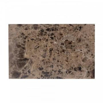Masa de bar patrata din marmura Osteria 105.5x80x80 cm maro