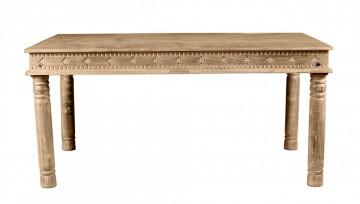 Masa dreptunghiulara din lemn de mango Lakadee 160x90x76 cm maro deschis