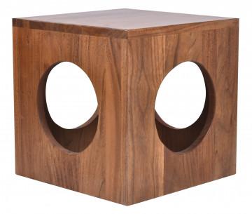 Masuta de cafea patrata din lemn de salcam 35 cm