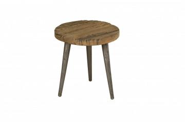 Masuta de cafea rotunda din lemn 38x38x39 cm maro