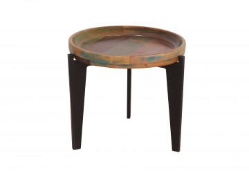 Masuta de cafea rotunda din lemn Fiume 46x42 cm multicolora