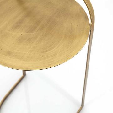 Masuta de cafea rotunda din metal Garcon 35x35x65 cm alama