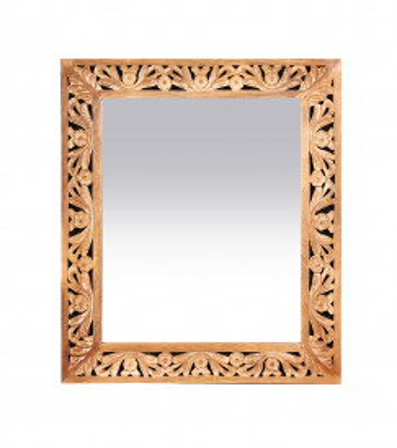 Oglinda dreptunghiulara cu rama din lemn de mango Lakadee 68 x 79 cm