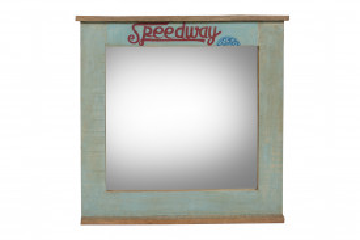 Oglinda dreptunghiulara cu rama din lemn reciclat SPEEDWAY, 68 x 3 x 79 cm