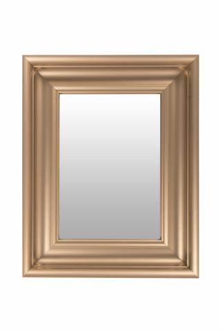 Oglinda dreptunghiulara cu rama din polistiren champagne Scott, 45,5cm (L) x 36,5cm (L) x 5,2cm (H)