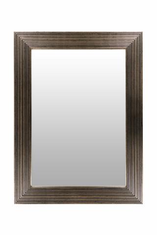 Oglinda dreptunghiulara cu rama din polistiren neagra/aurie Harper, 79cm (L) x 59cm (L) x 1,8cm (H)