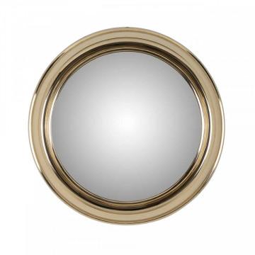 Oglinda rotunda cu rama din fier aurie Maloe 55Ø