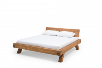 Pat din lemn masiv 200 x 200 cm