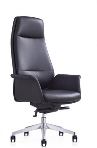 Scaun birou rotativ din imitație piele Cocoon negru