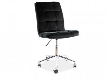 Scaun de birou din catifea Q20 negru